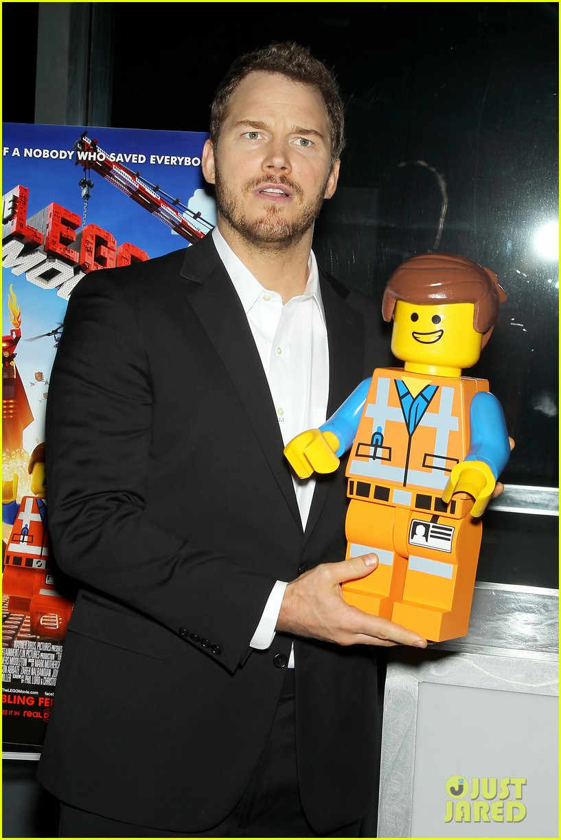 elizabeth banks chris pratt lego movie nyc screening 143048257