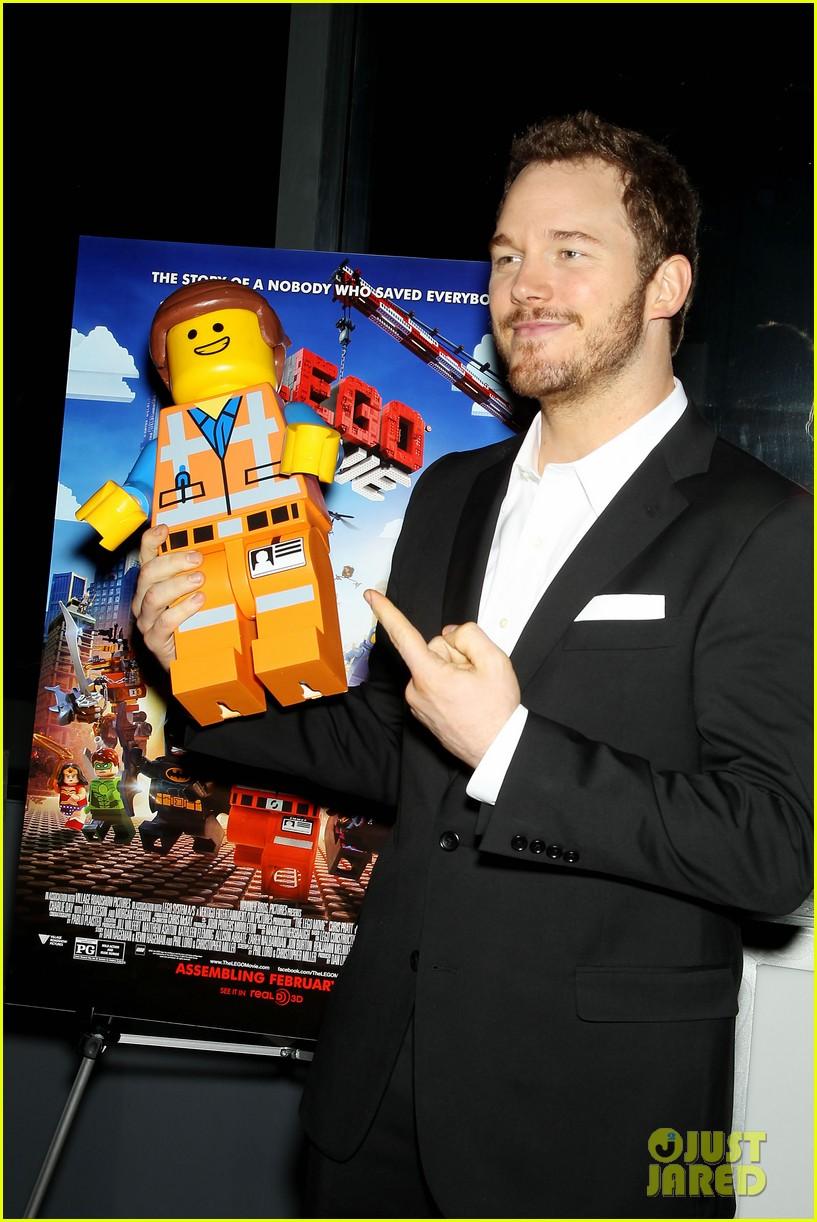 elizabeth banks chris pratt lego movie nyc screening 173048260