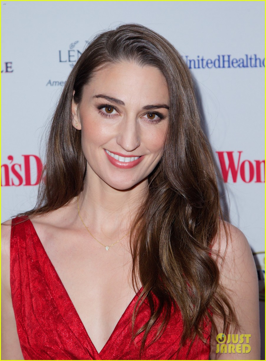 sara bareilles puts on her little red dress for womans day 023051756