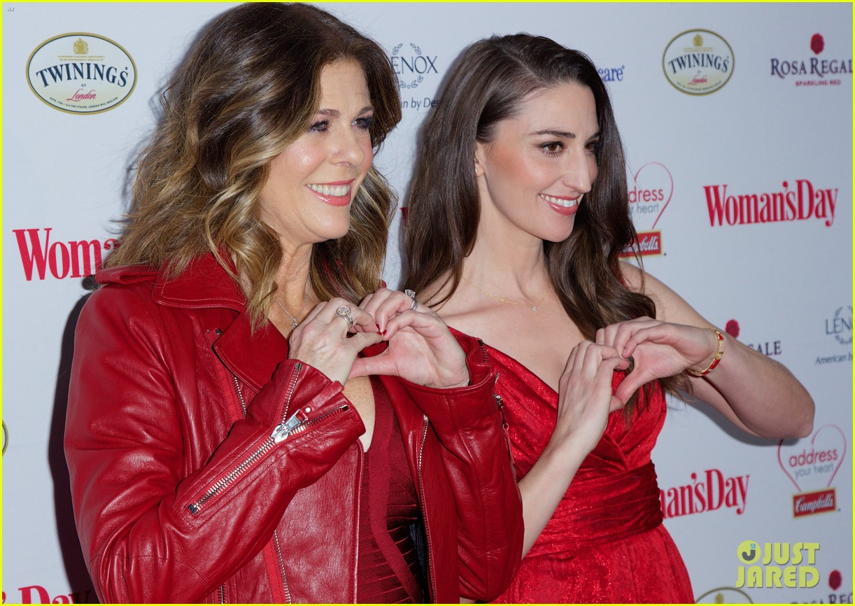 sara bareilles puts on her little red dress for womans day 163051770