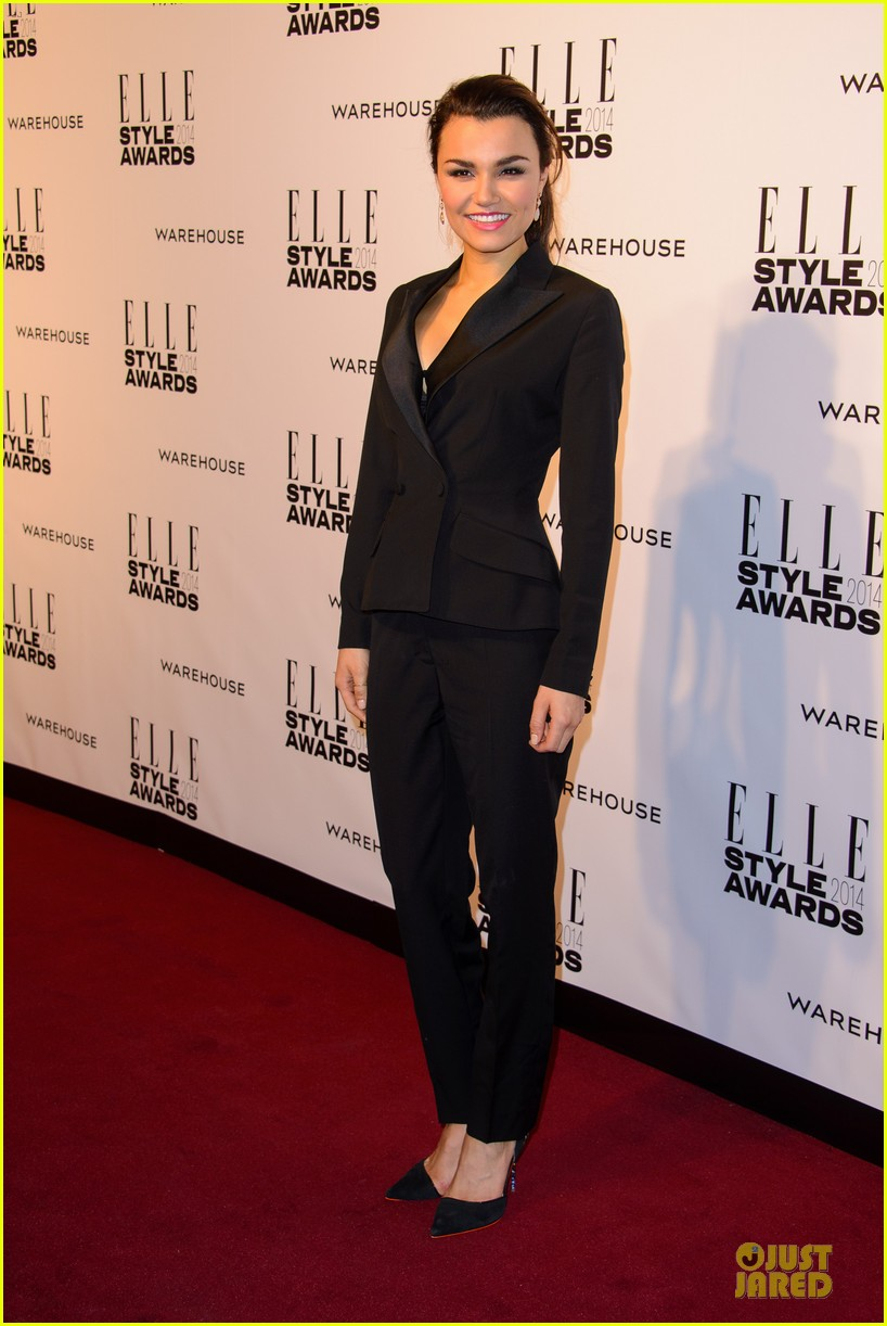 samantha barks felicity jones elle style awards 2014 123055852