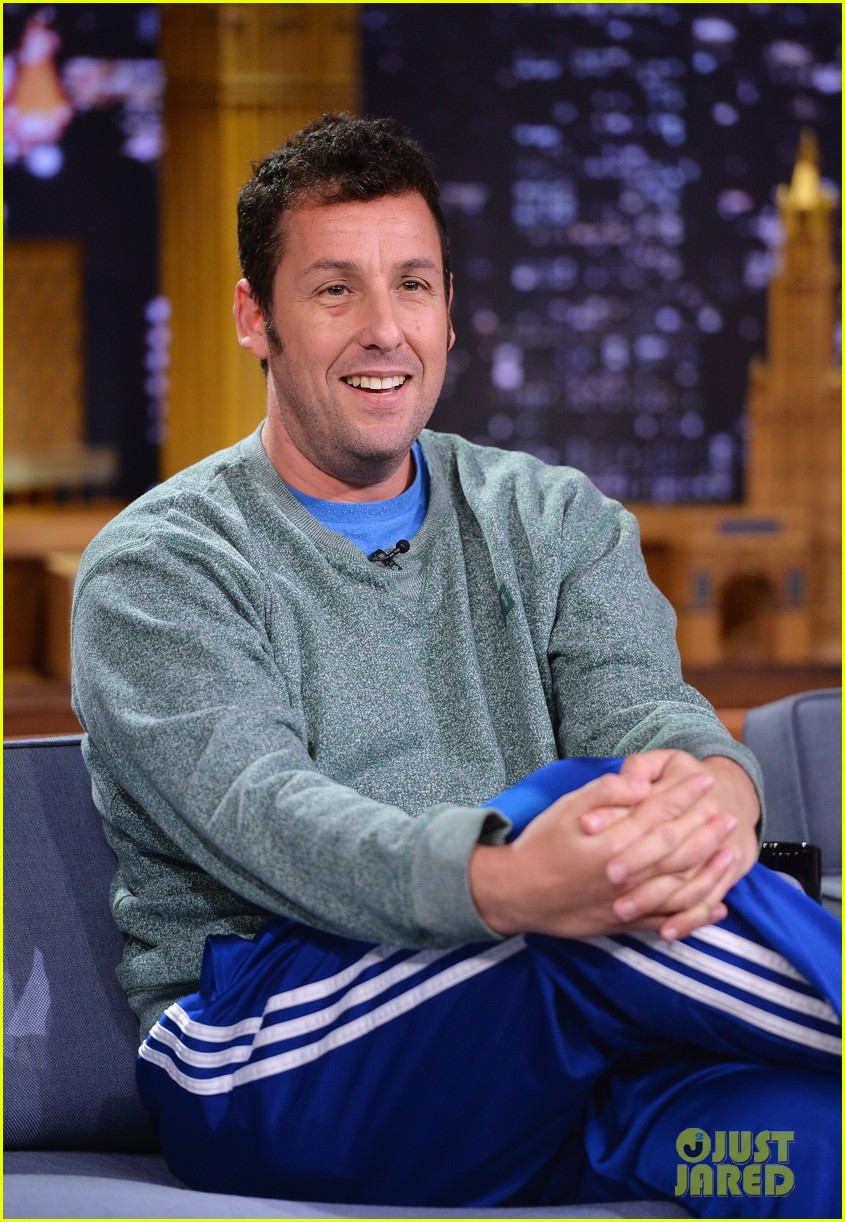 adam sandler sings to pregnant drew barrymore on fallon 133061308