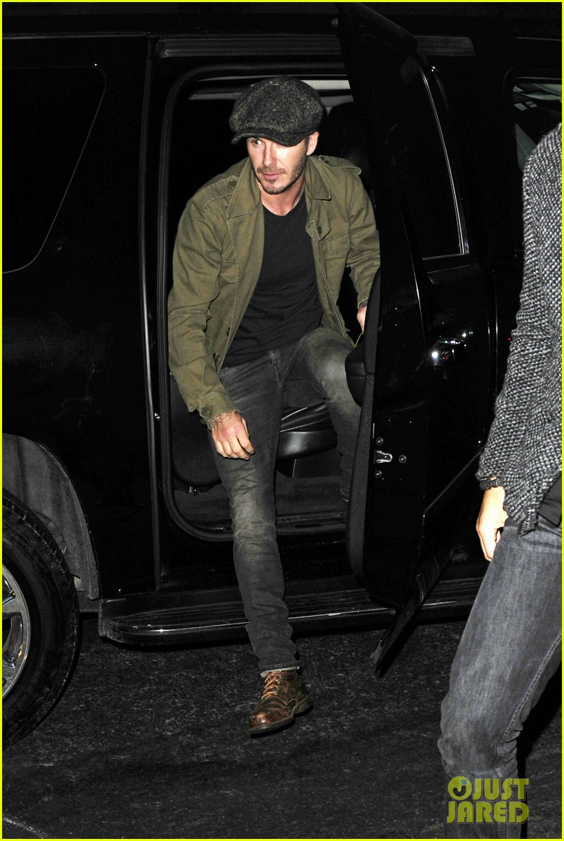 david beckham gets police escort to new york knicks game 05