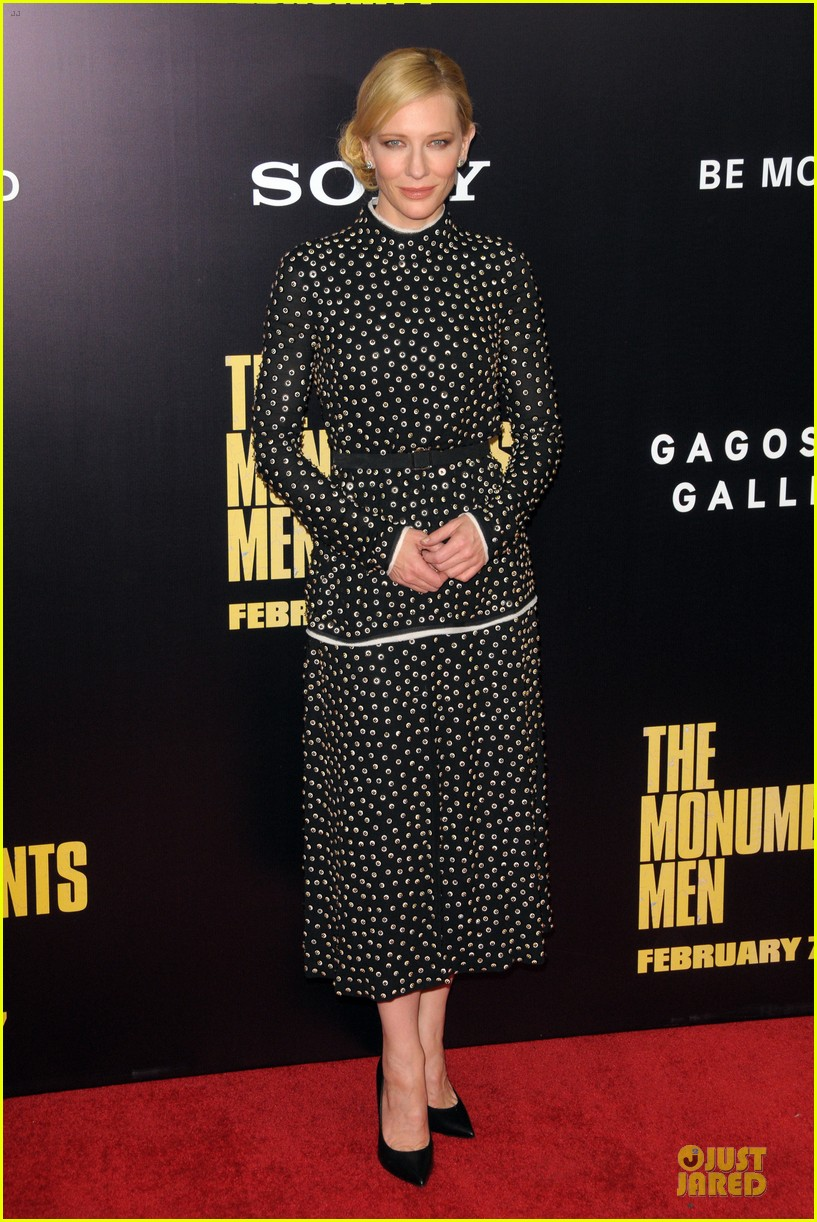 cate blanchett matt damon monuments men nyc premiere 01