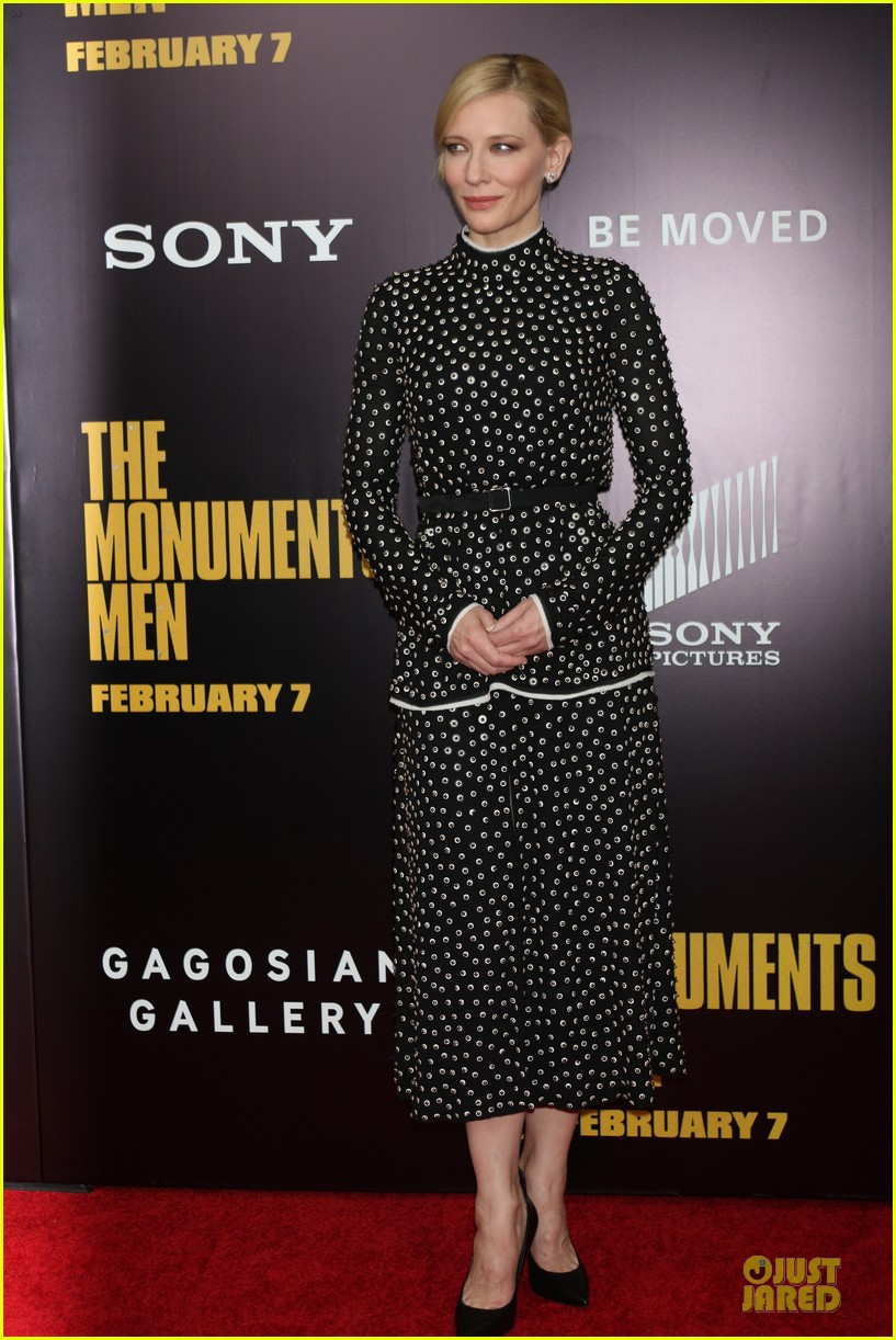 cate blanchett matt damon monuments men nyc premiere 133047707
