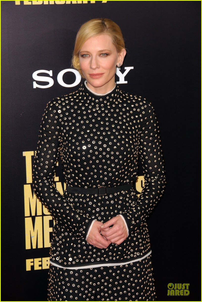 cate blanchett matt damon monuments men nyc premiere 14