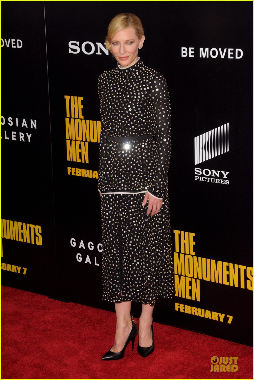 cate blanchett matt damon monuments men nyc premiere 15