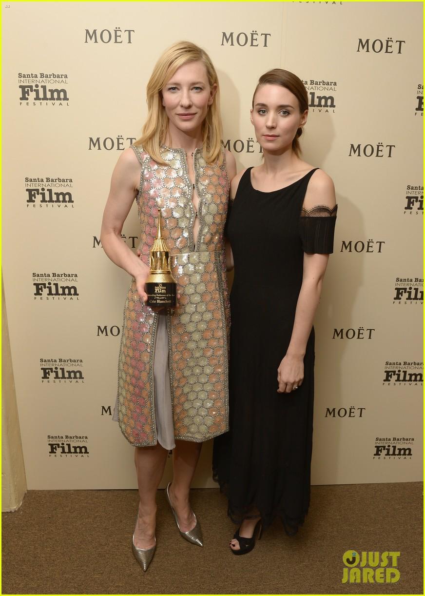 cate blanchett honored by rooney mara at santa barbara film festival 053046124