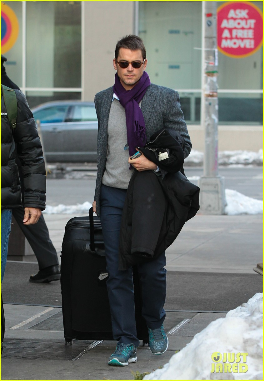 matt bomer partner simon halls check out of nyc hotel 05