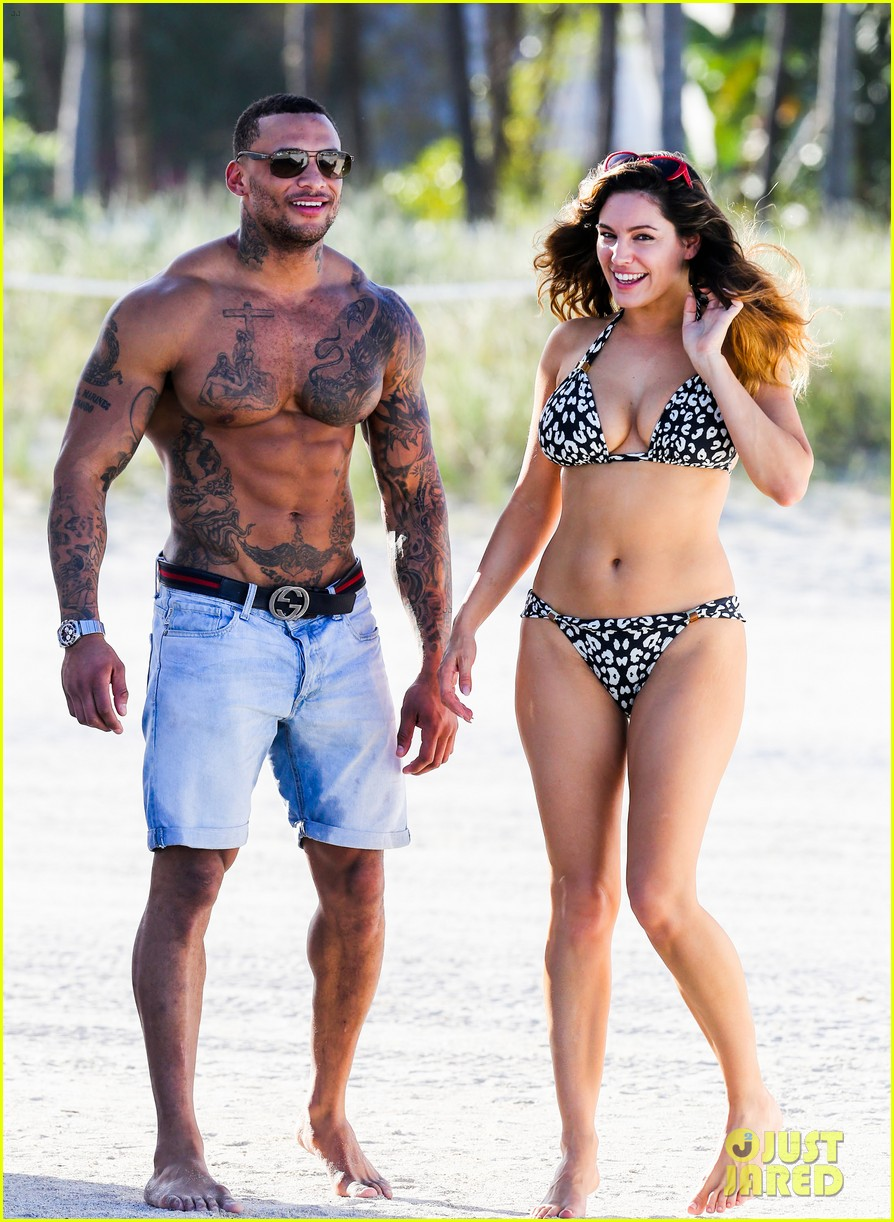 Kelly Brook Bikini Babe With Macho Boyfriend David