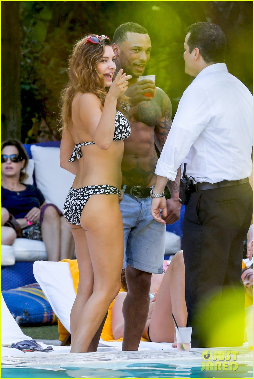 kelly brook bikini babe with macho boyfriend david mcintosh 133046862