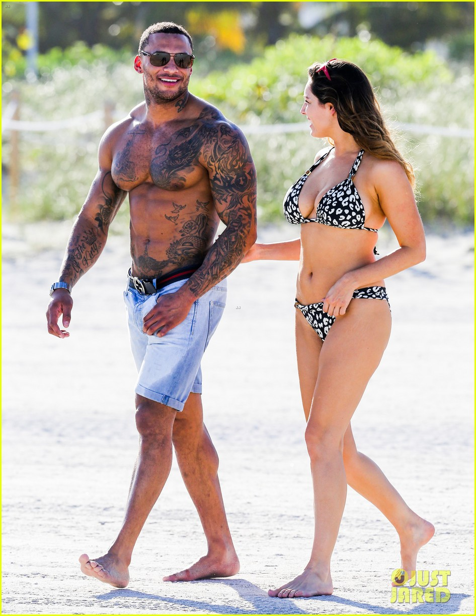 kelly brook bikini babe with macho boyfriend david mcintosh 163046865