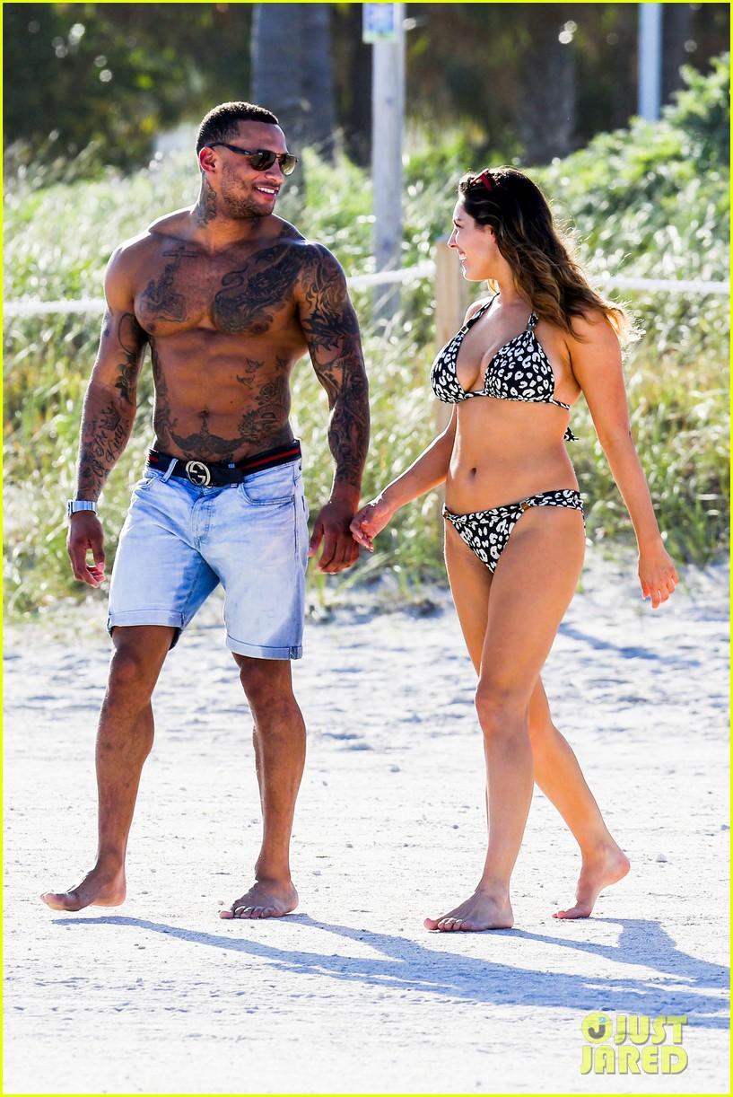kelly brook bikini babe with macho boyfriend david mcintosh 183046867