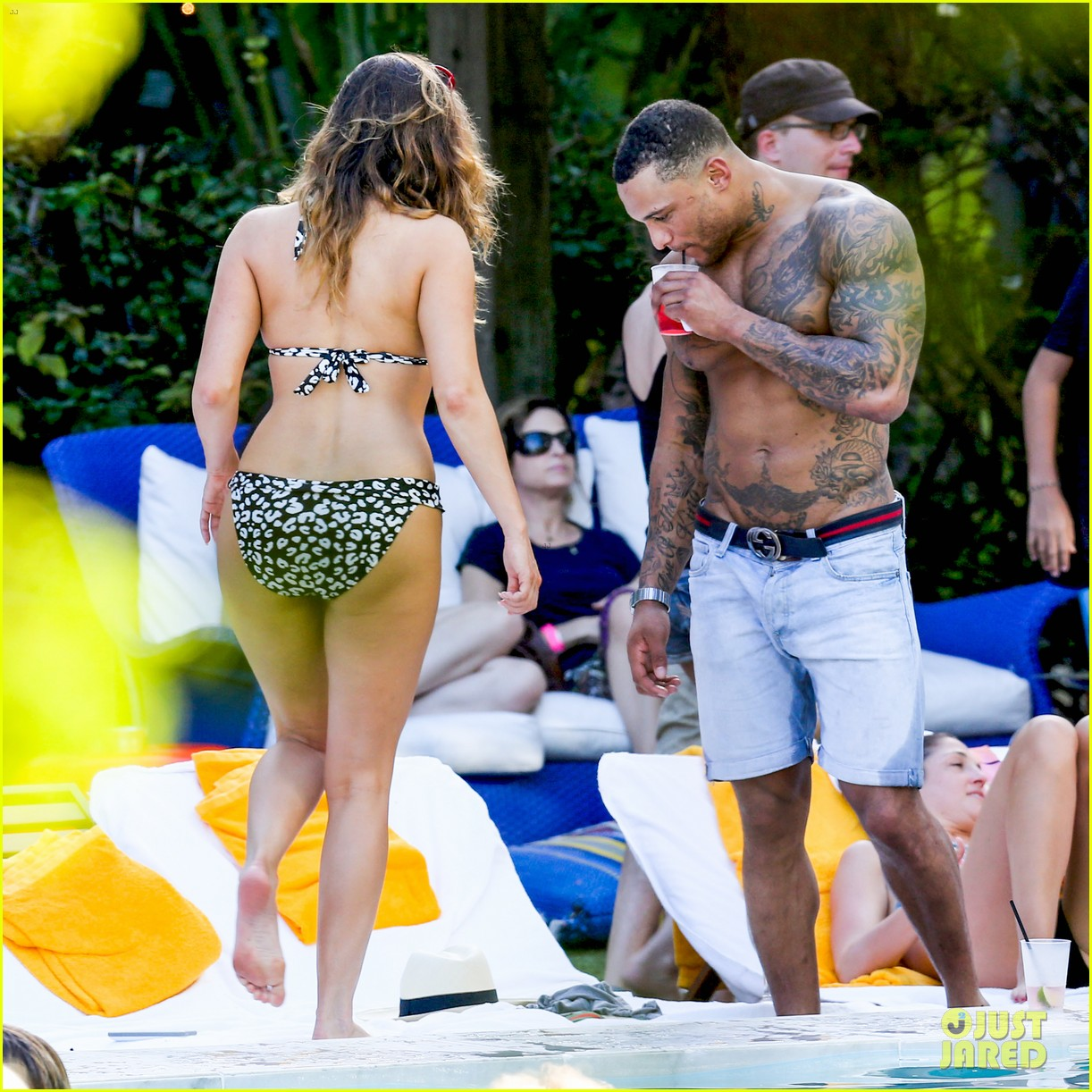 kelly brook bikini babe with macho boyfriend david mcintosh 213046870