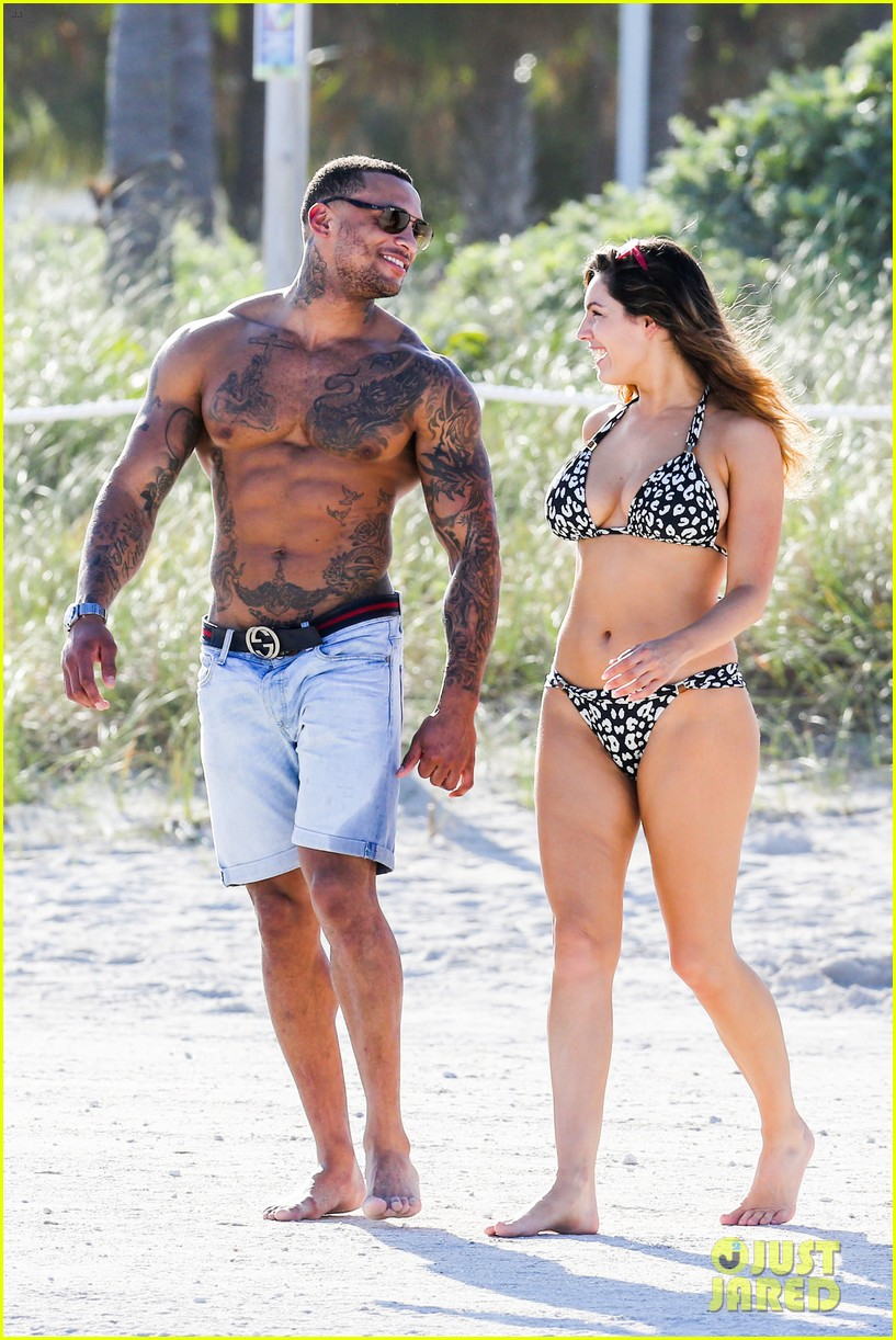 kelly brook bikini babe with macho boyfriend david mcintosh 223046871
