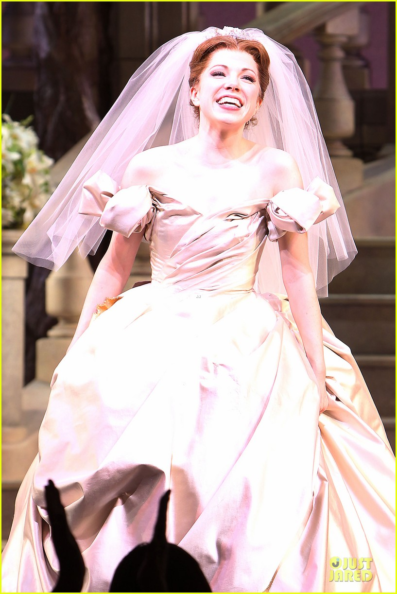 carly rae jepsen dons wedding dress for cinderella curtain call 023047793
