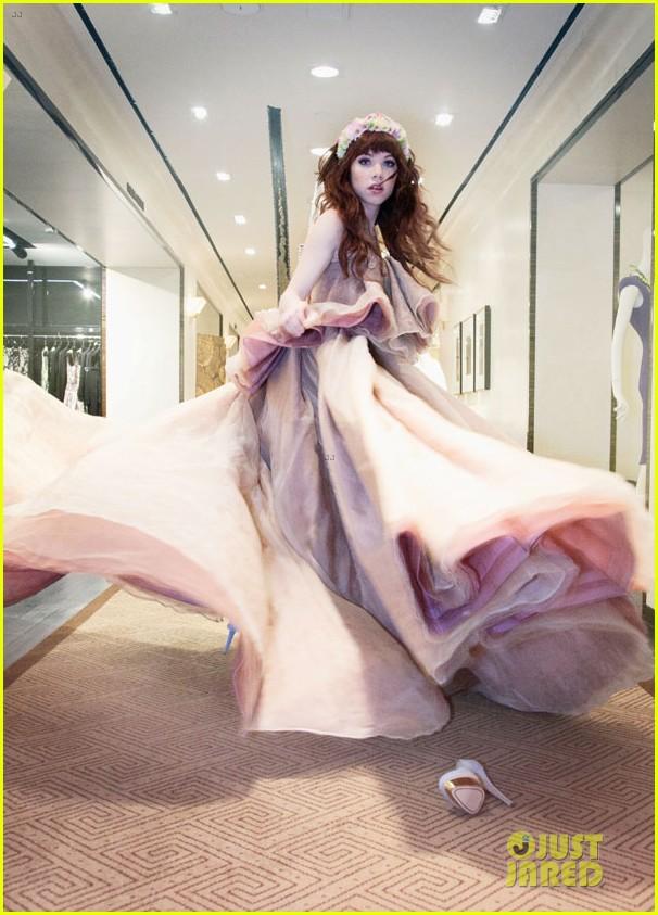 carly rae jepsen dons wedding dress for cinderella curtain call 07