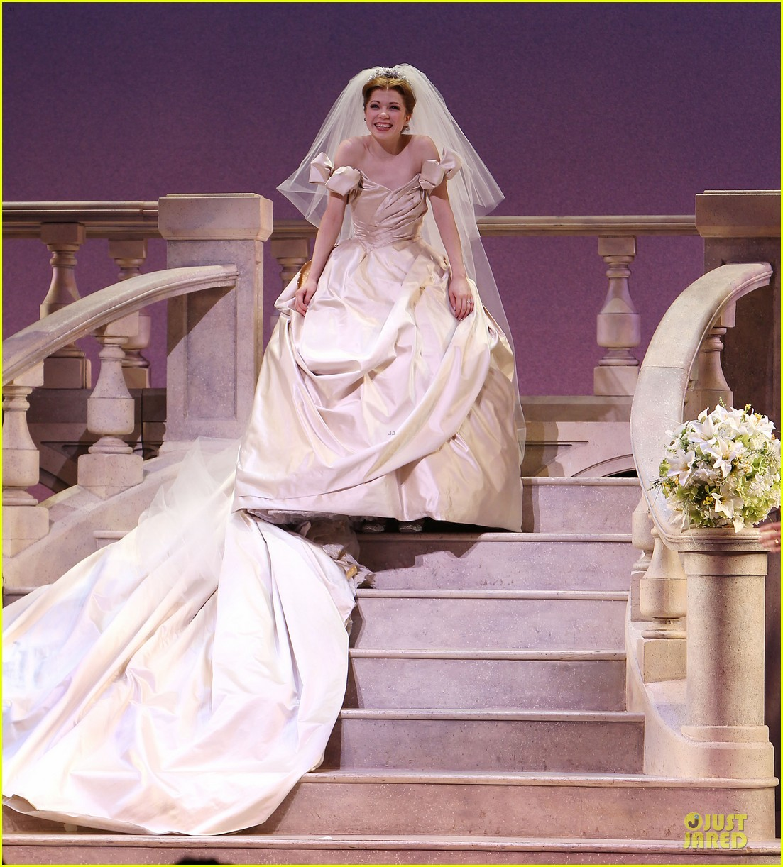 carly rae jepsen dons wedding dress for cinderella