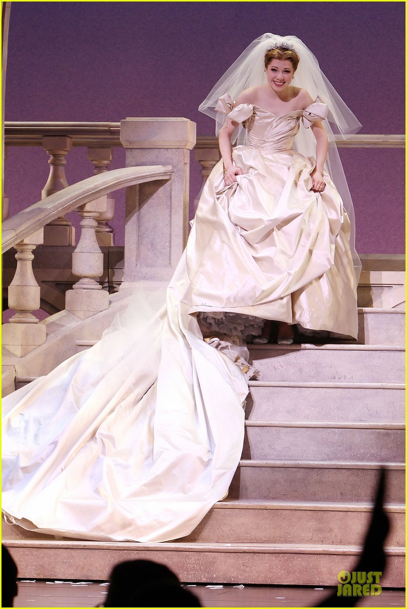 carly rae jepsen dons wedding dress for cinderella curtain call 103047801