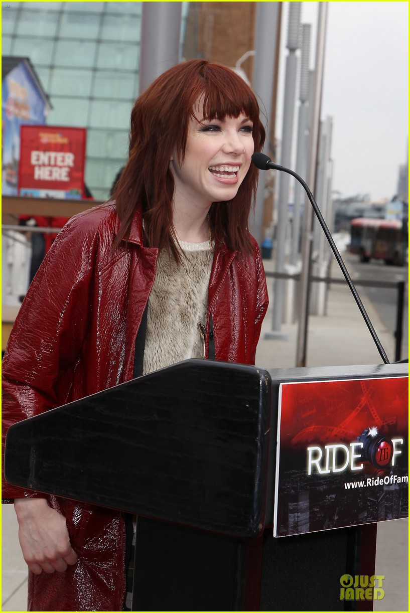 carly rae jepsen honoree at gray line ride of fame event 023060491