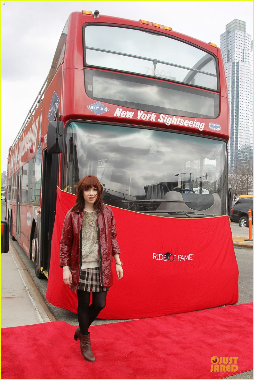 carly rae jepsen honoree at gray line ride of fame event 093060498