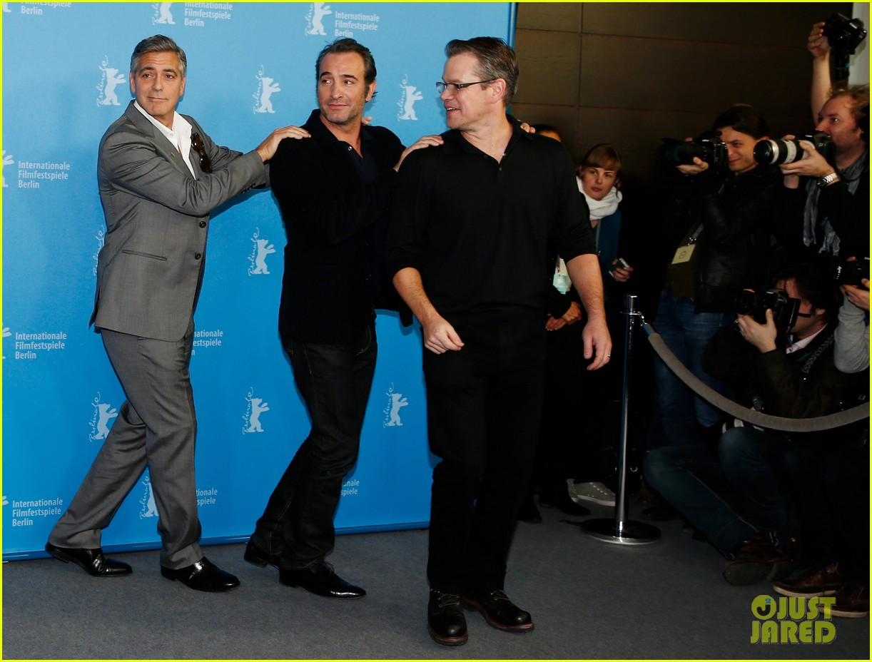 george clooney monuments men cast do the conga 063049611