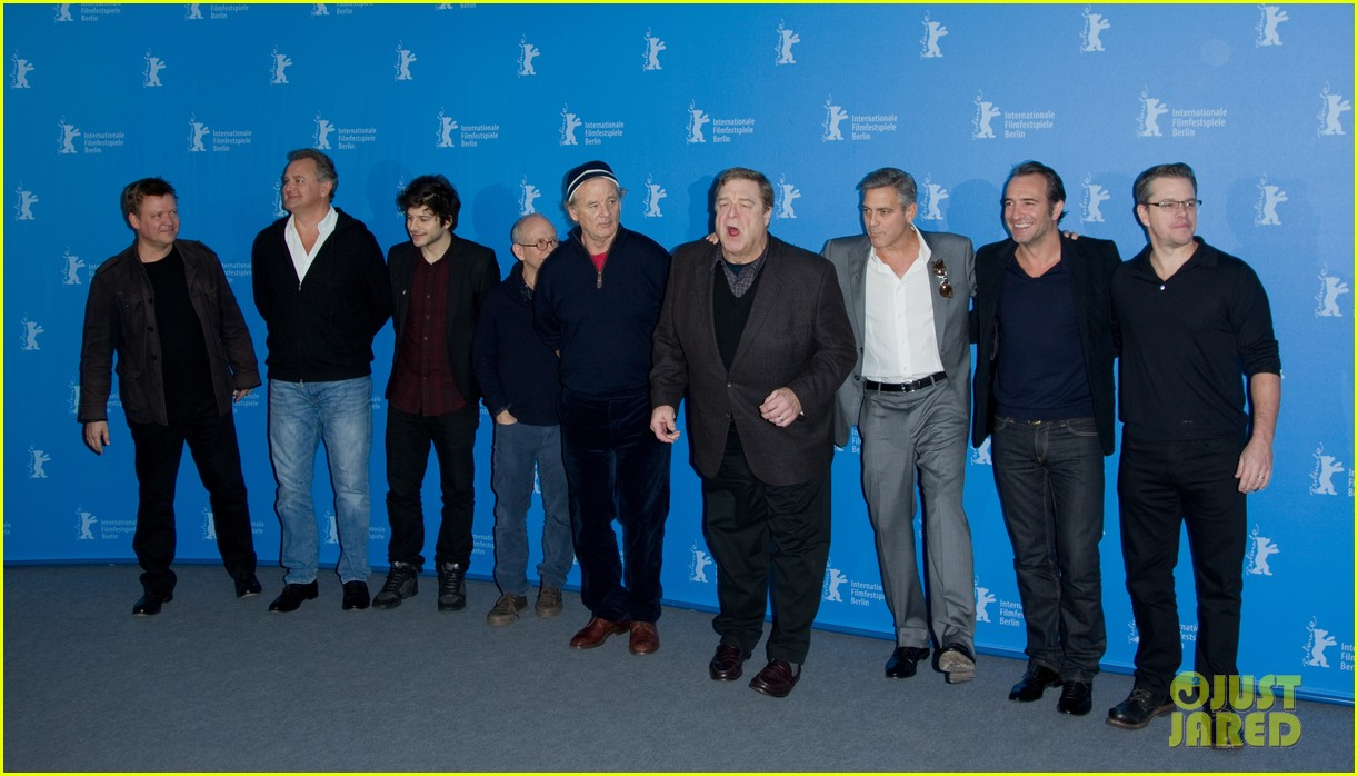 george clooney monuments men cast do the conga 093049614