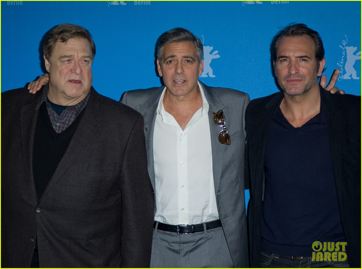 george clooney monuments men cast do the conga 103049615