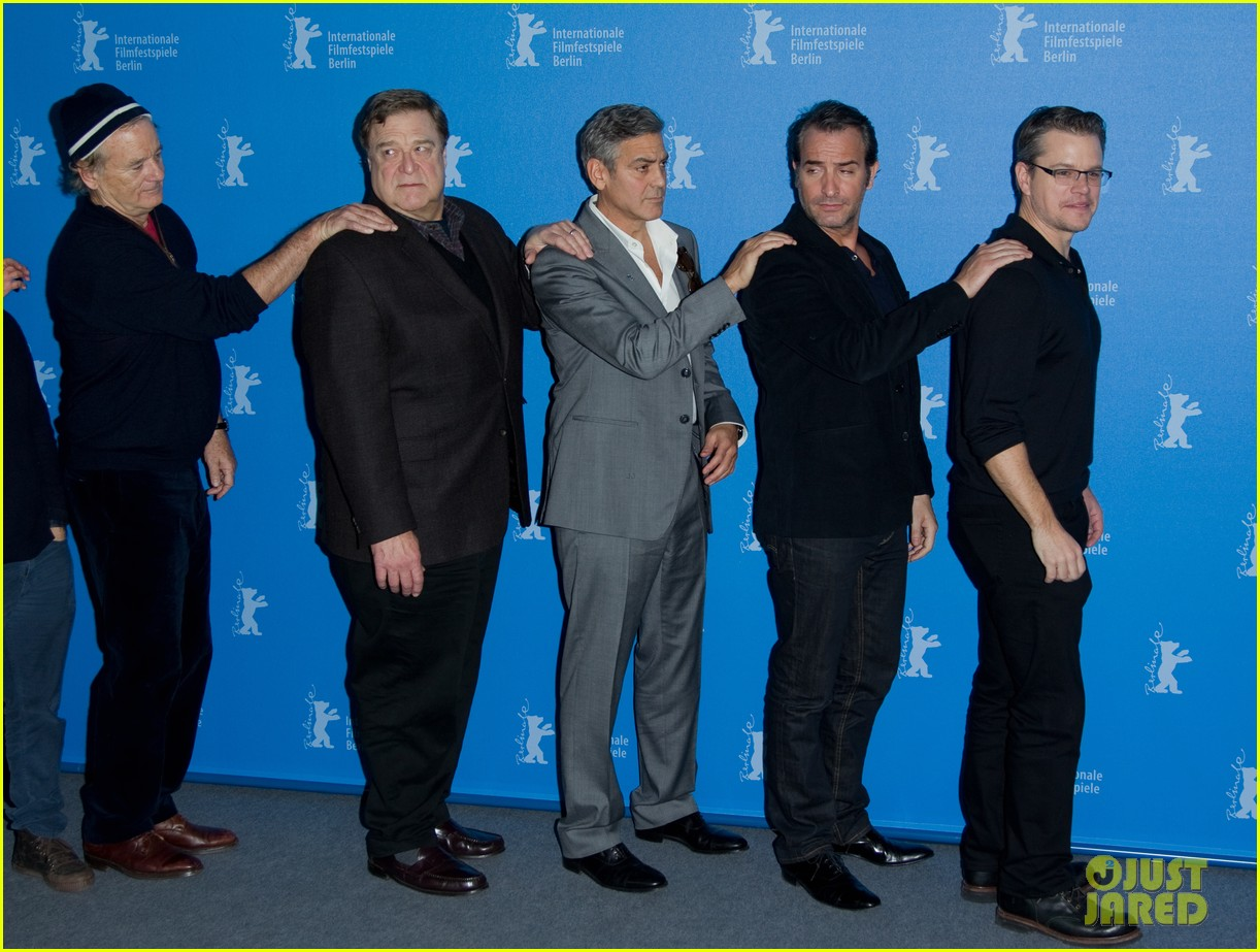 george clooney monuments men cast do the conga 143049619