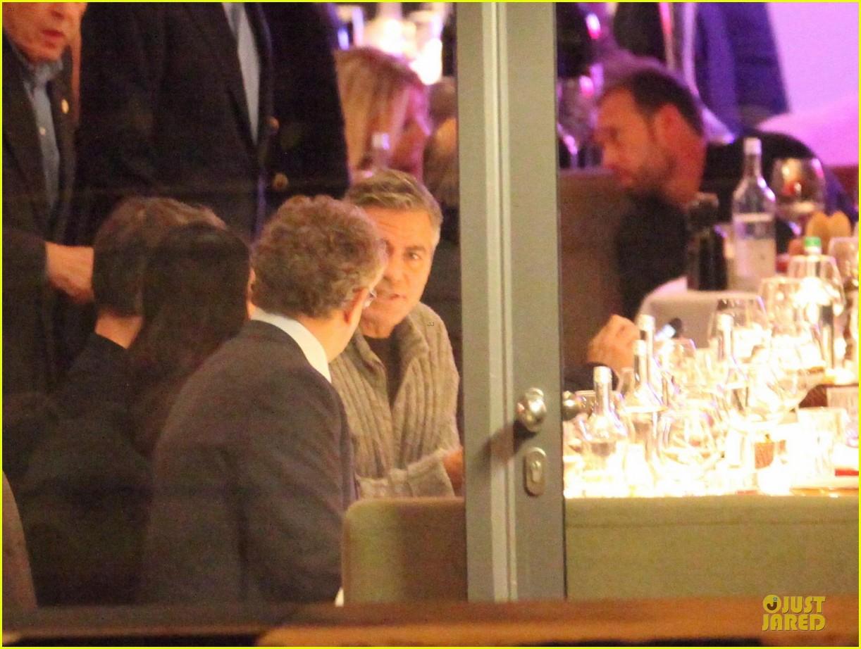 george clooney matt damon monuments men cast dinner before berlin film festival 053049385