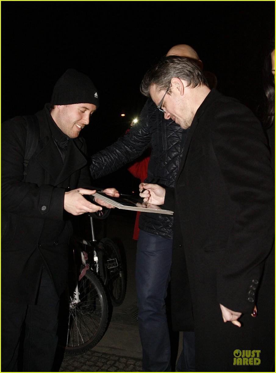 george clooney matt damon monuments men cast dinner before berlin film festival 103049390