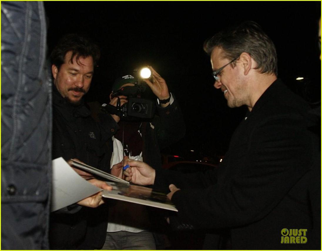 george clooney matt damon monuments men cast dinner before berlin film festival 113049391