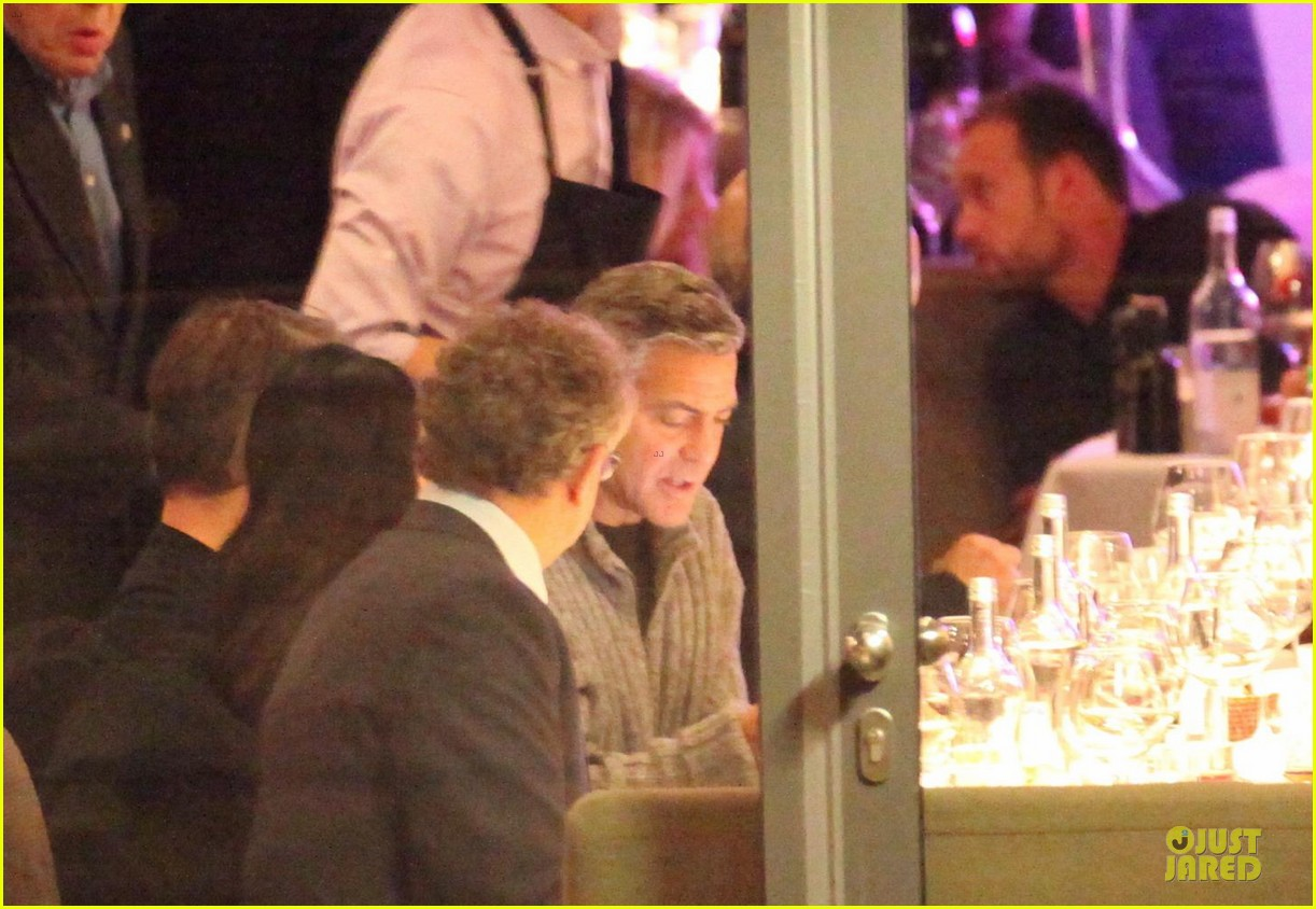 george clooney matt damon monuments men cast dinner before berlin film festival 203049400