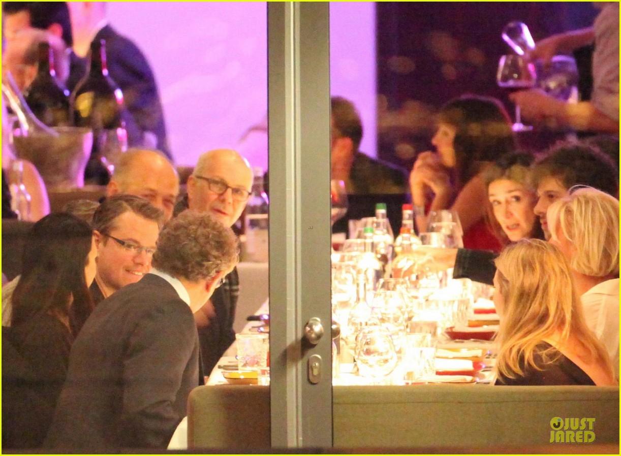 george clooney matt damon monuments men cast dinner before berlin film festival 223049402