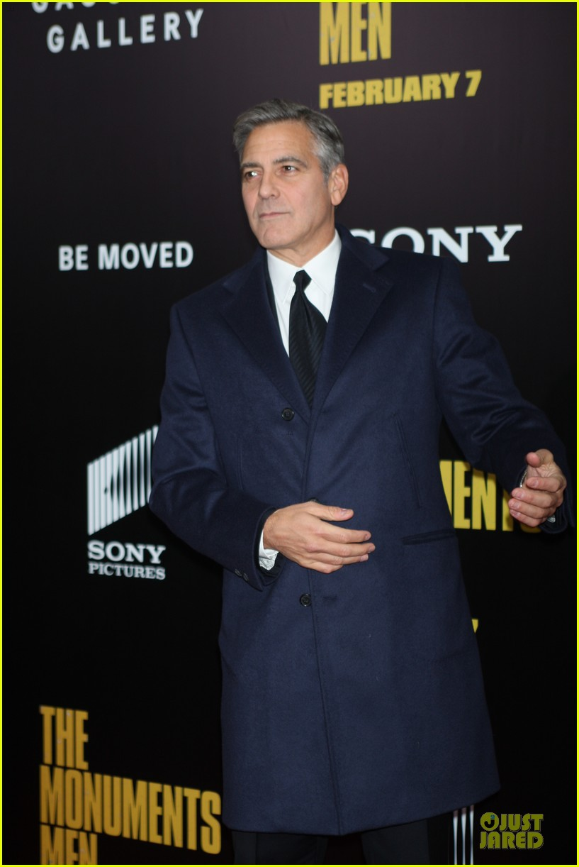 george clooney monuments men nyc premiere 16