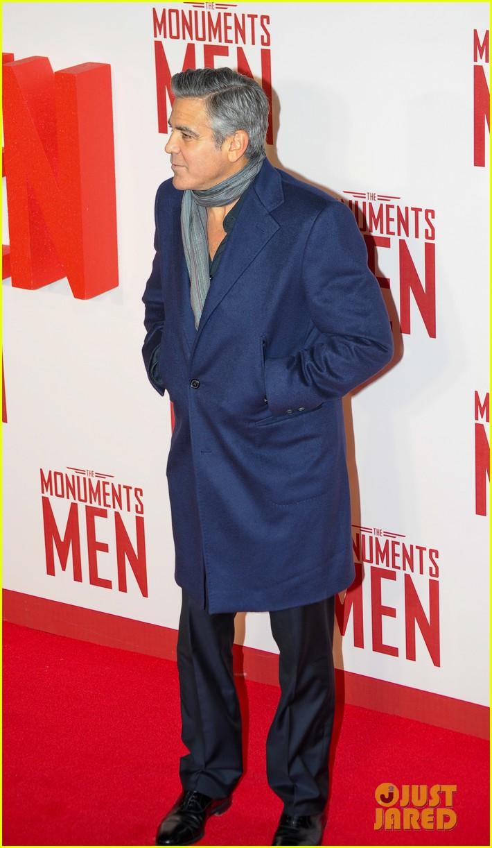george clooney matt damon continue monuments men tour with uk premiere 013051419