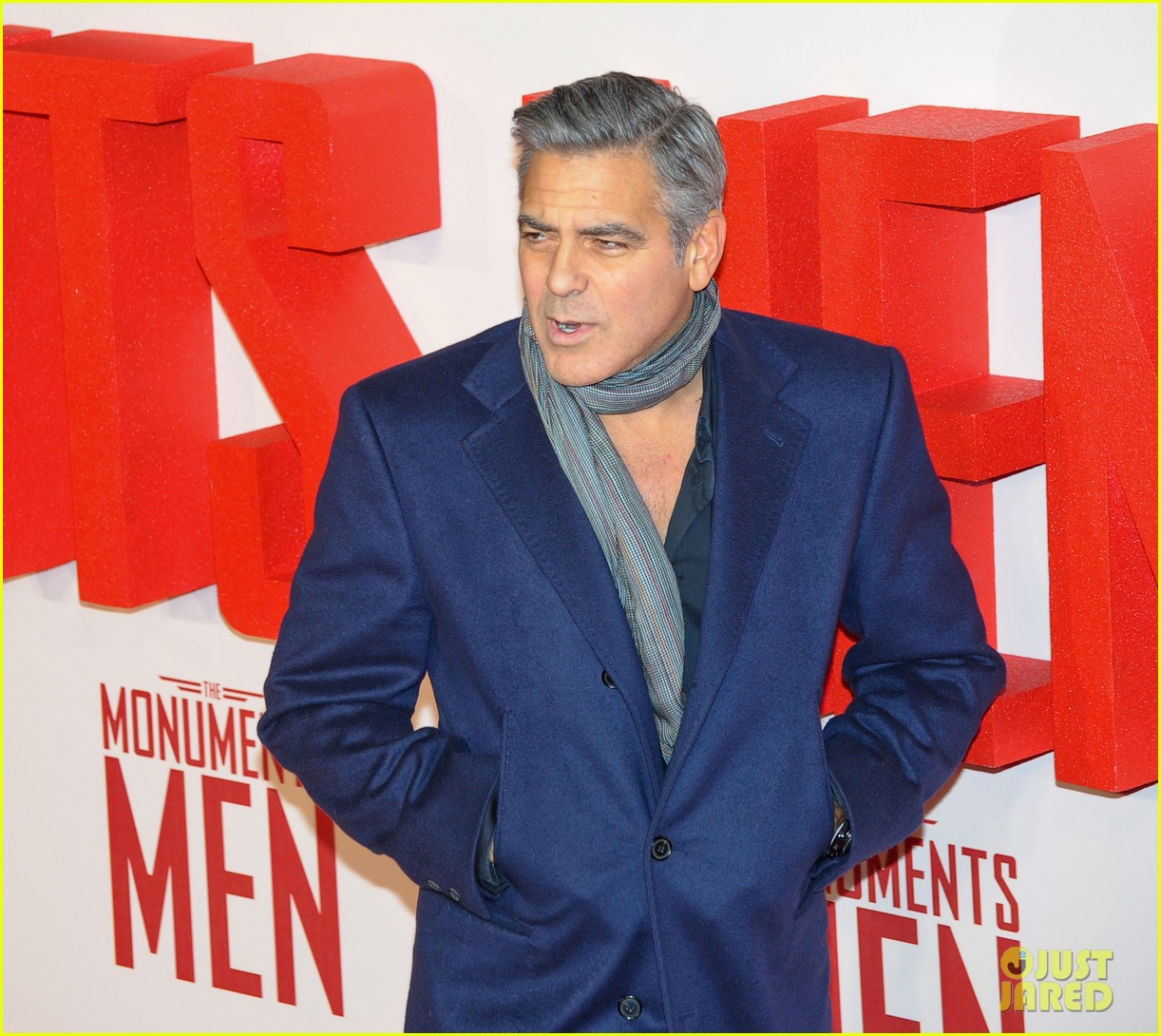 george clooney matt damon continue monuments men tour with uk premiere 08