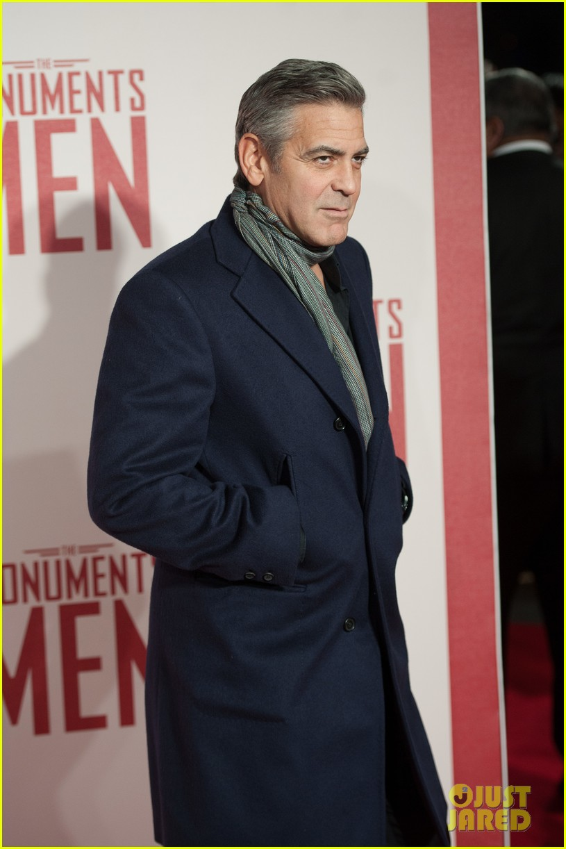 george clooney matt damon continue monuments men tour with uk premiere 093051427