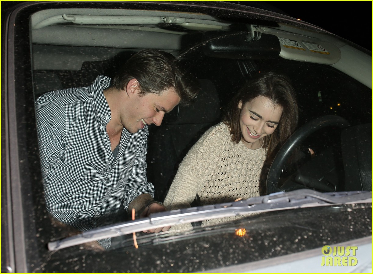 lily collins thomas cocquerel dinner date at craigs 013048463