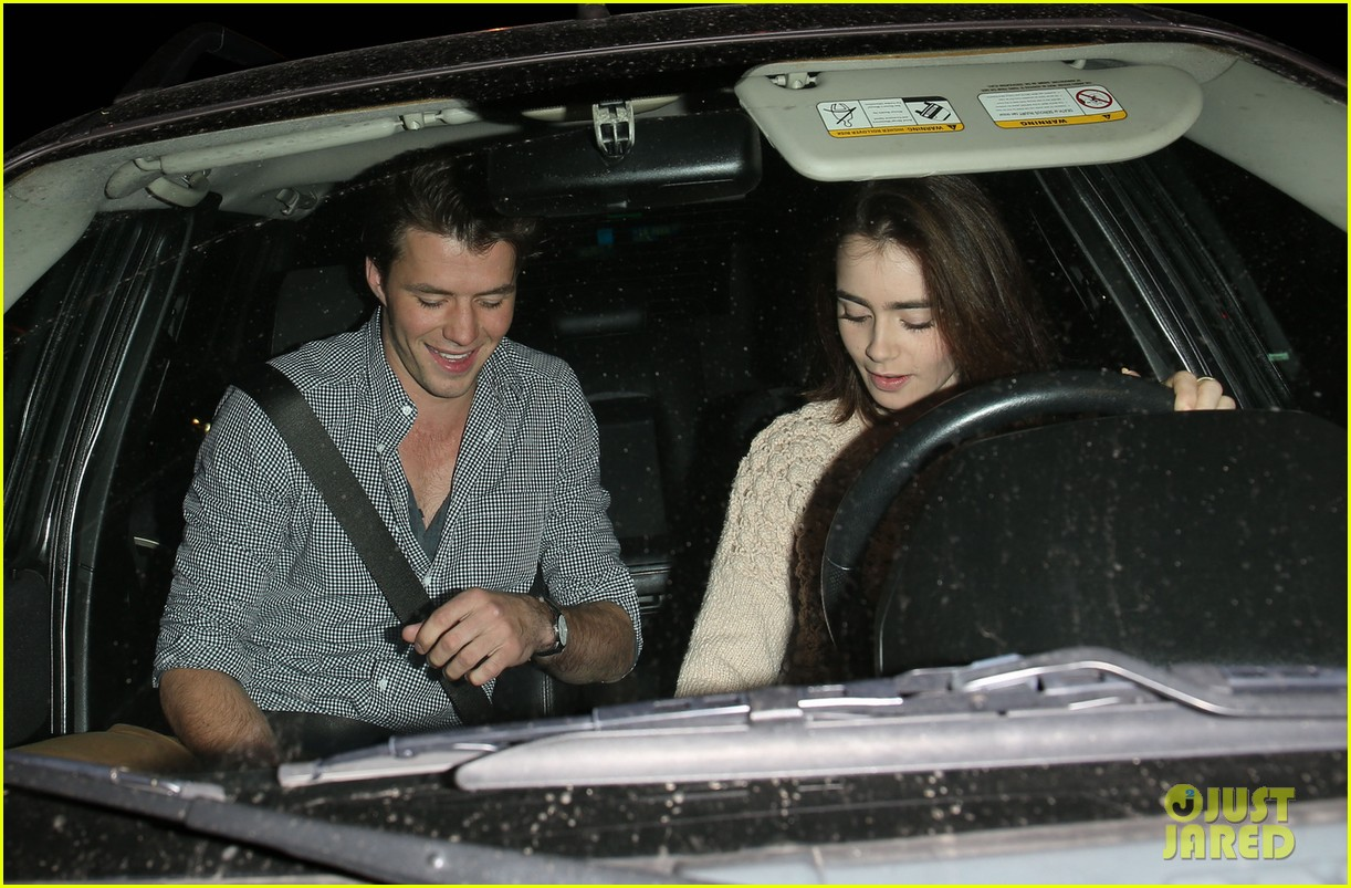 lily collins thomas cocquerel dinner date at craigs 03