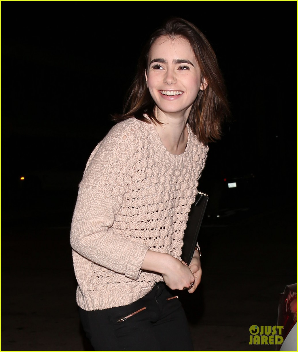 lily collins thomas cocquerel dinner date at craigs 04