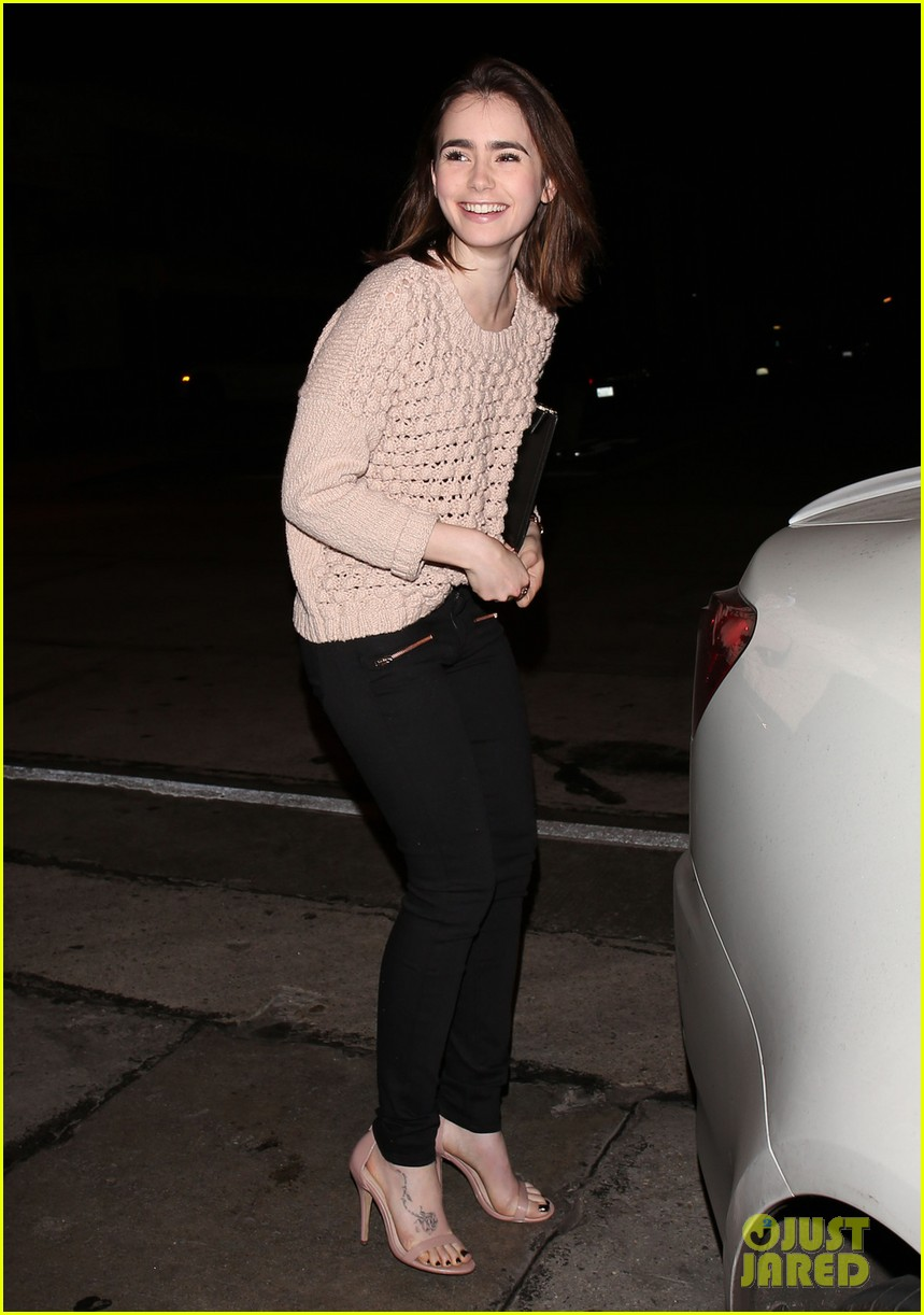 lily collins thomas cocquerel dinner date at craigs 053048467