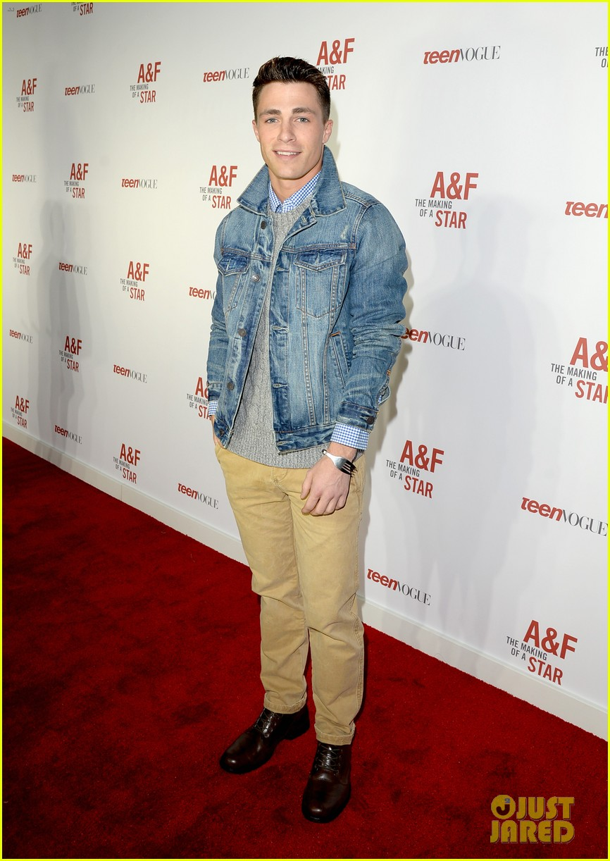 colton haynes steven r mcqueen ambercrombie fitch making of star sping 2014 campaign party 06