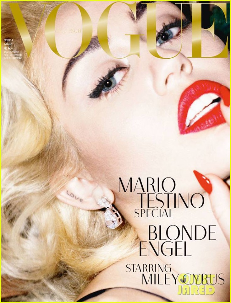 miley cyrus blonde angel for german vogue cover 013048628