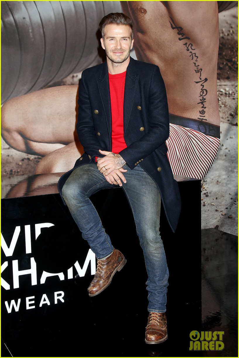 david beckham promotes hm body wear collection nyc 183045554