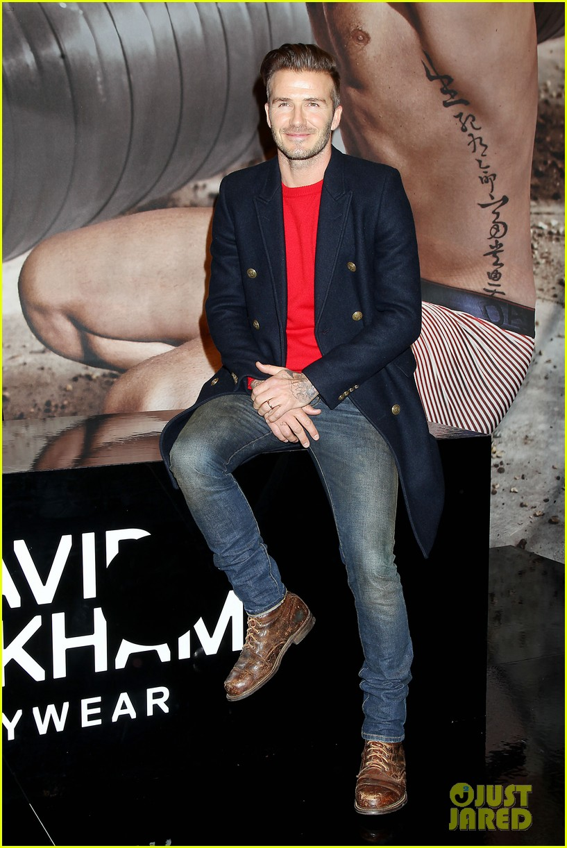 david beckham promotes hm body wear collection nyc 213045557