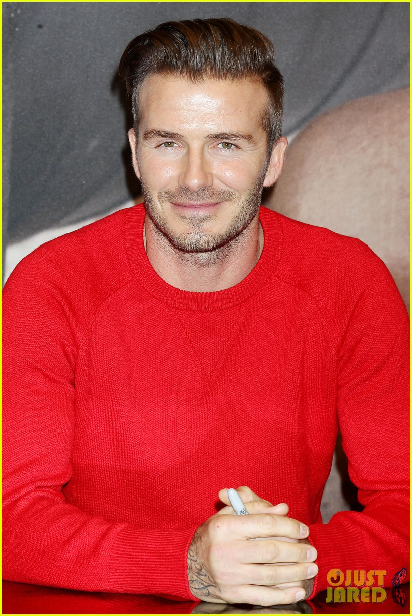 david beckham promotes hm body wear collection nyc 273045563