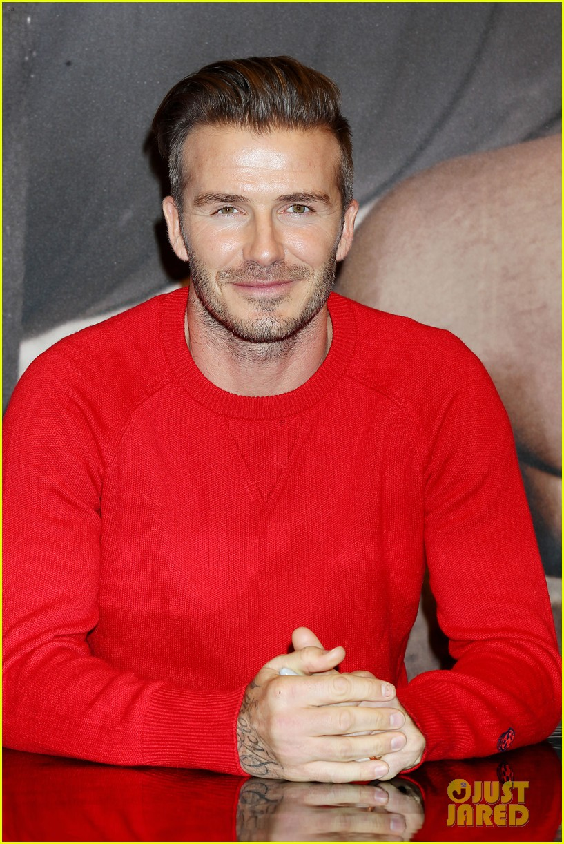 david beckham promotes hm body wear collection nyc 313045567