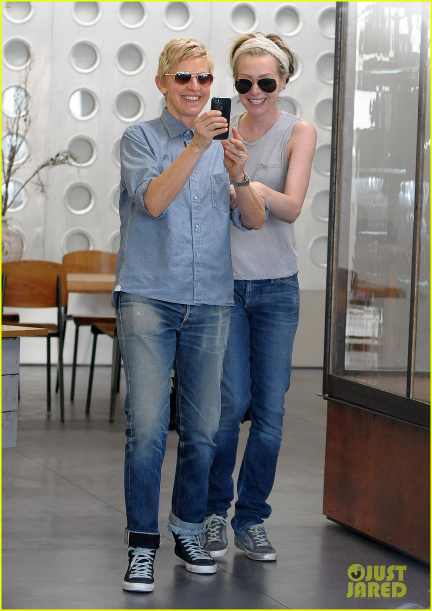ellen degeneres portia de rossi were the cutest couple on valentines day 013054316