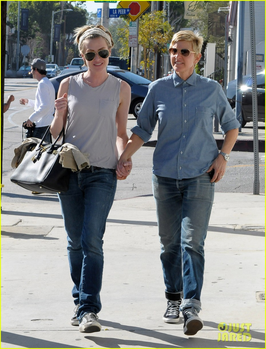 ellen degeneres portia de rossi were the cutest couple on valentines day 03